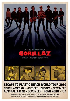 Gorillaz Annouce 2010 World Tour Teenage Riot Tv