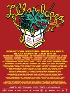 Lollapalooza 2012 Lineup poster