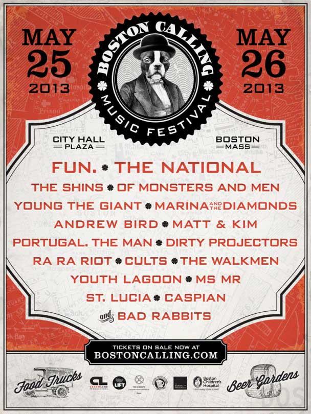Boston Calling 2013 Poster