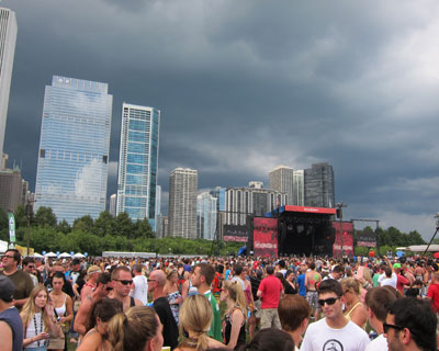 Storm rolling in during Cage the Elephant