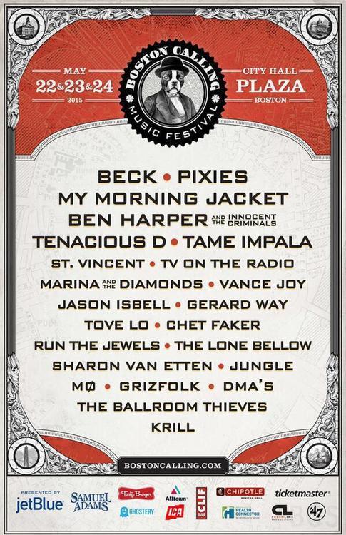 Boston Calling May 2015 lineup