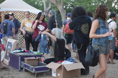 Acid Mothers Temple selling merch