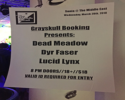 Dead Meadow Dyr Faser Lucid Lynx Sign